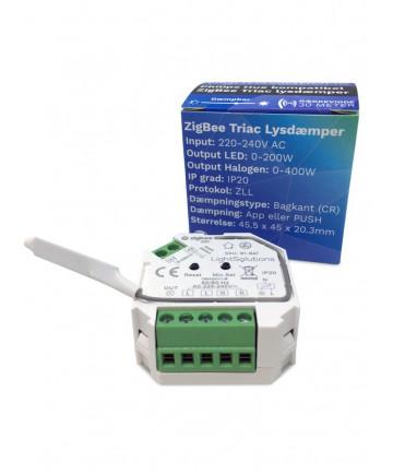 Mini ZigBee Triac Lysdæmper med PUSH