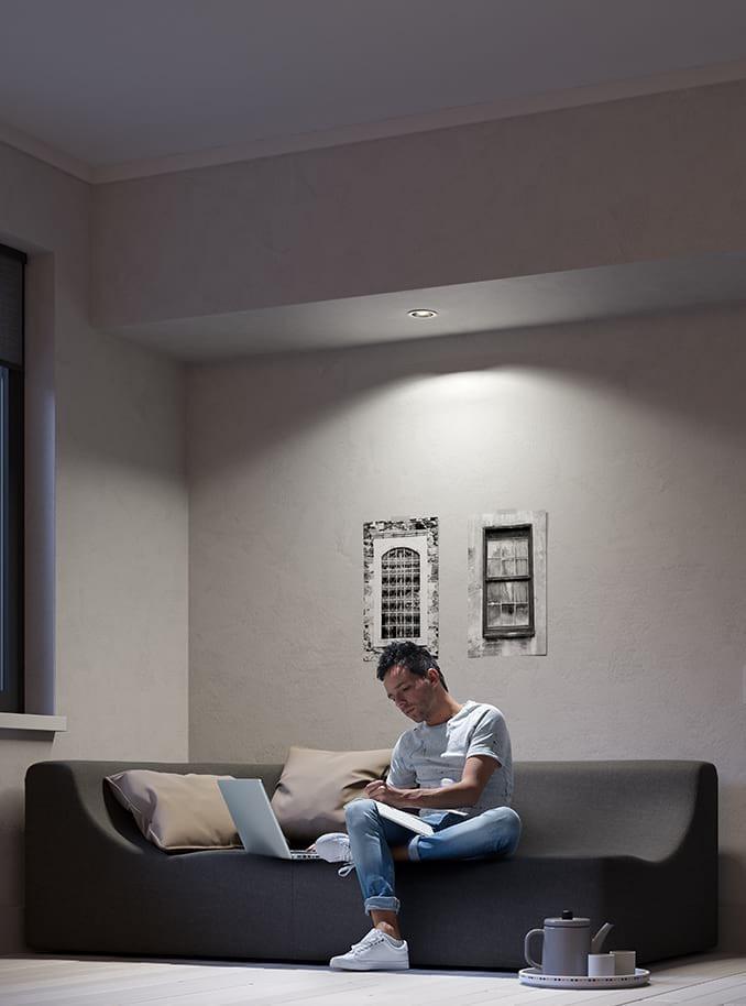 philips hue milliskin indbygningsspot rund hvid. Black Bedroom Furniture Sets. Home Design Ideas