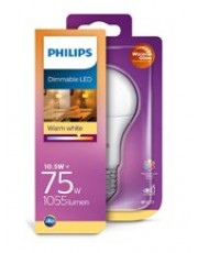 E27 - Philips LED - 10.5W - Warm Glow (Dæmpbar)