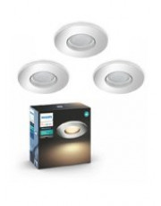 Philips Hue Adore Indbyg. spot - IP44 - Chrome - 3 PAK