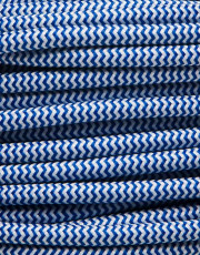 Blå zig-zag stofledning