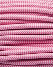 Pink zig-zag stofledning