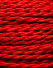 Rød snoet stofledning