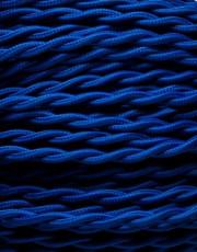 Blå snoet stofledning