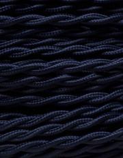 Mørkeblå snoet stofledning
