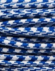 Blå tofarvet stofledning