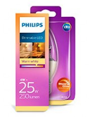 E14 - Philips kerte LED Pære 4W - 250lm