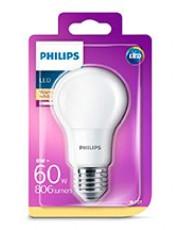 E27 - Philips LED Pære - Mat - 8W - 806lm