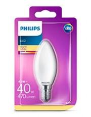 E14 - Philips LED Kerte Pære - Mat - 4.3W - 470lm