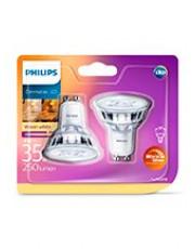 GU10 - Philips Warm Glow LED Spot 2.6W - 230lm  2-pak