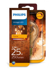 E27 - Philips Flame LED Pære - 5.5W