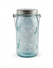 Tivoli LED Glas Lanterne - Blå glas
