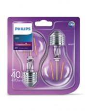 E27 - 2-pak LED pærer - 4W