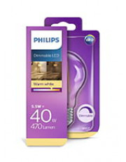 E27 - Philips Classic LED Pære - 5.5W