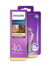 E27 - Philips LED Kronepære - 5W
