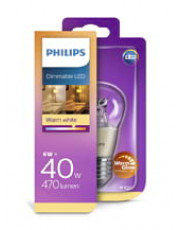 E27 - Philips Krone LED Pære - 6W (Warm Glow)