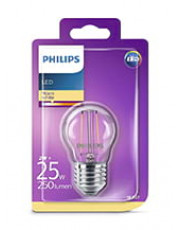 E27 - Philips LED Kronepære - 2W