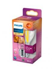 E27 - Philips LED Pære - Klar - 11,5W - 1521lm