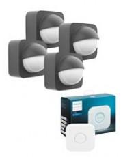 4 x Philips Hue Udendørs Motion Sensor + Bridge