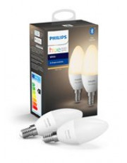 Philips Hue White LED pære - E14 Kerte 2-PACK - BT