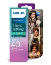 E14 - Philips LED Kerte Sceneswitch - 5.5/4/2W
