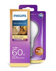 E27 - Philips Krone LED - 8.5W - Warm Glow Dæmpbar