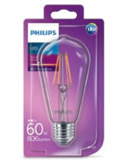 E27 LED Globepære - Philips - Edison - 7W