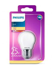 E27 - Philips LED Krone Pære - 2.2W