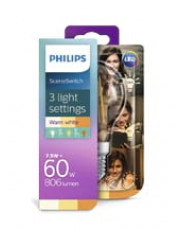 E27 - Philips SceneSwitch LED - 7.5W