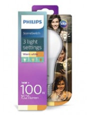 E27 - Philips SceneSwitch LED pære 14W