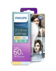 E27- Philips SceneSwitch LED pære - 9.5W