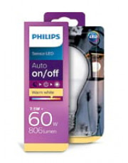 E27 - Philips sensor LED - 7.5W - Auto on/off