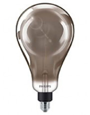 E27 - Philips Vintage Dråbe LED - 6.5W (Smoky)