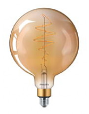 E27 - Philips Vintage Globe LED - 6.5W (Gylden)