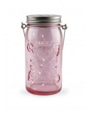 Tivoli LED Glas Lanterne - Pink glas