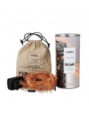 Tivoli LED Lyskæde - Kobber Twisted - 15m - 230V