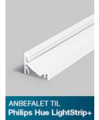 Aluminiumsprofil - Model C til Philips Hue LightStrip Plus