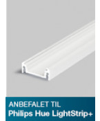 Aluminiumsprofil - Model S til Philips Hue LightStrip Plus - Hvid