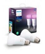 Philips Hue Color LED pære - E27 - 2-pak