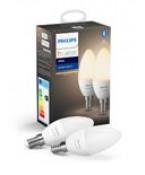 Philips Hue White LED pære - E14 Kerte 2-pak