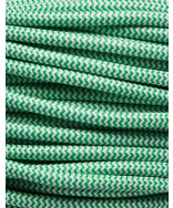 Grøn zig-zag stofledning