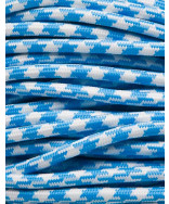 Lyseblå tofarvet stofledning