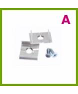 Monteringsbeslag til aluminiumslister
