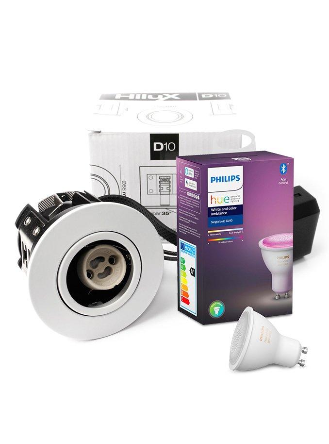 Image of   Philips Hue Color + HiluX D10 indbyg.