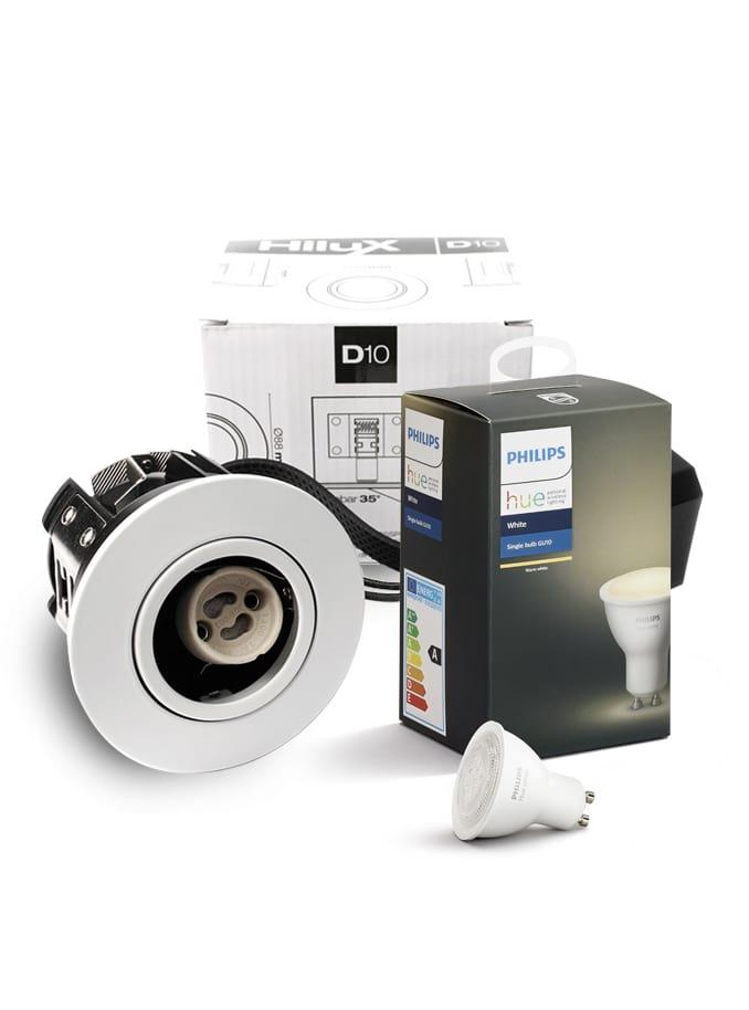 Image of   Philips Hue White + HiluX D10 indbyg