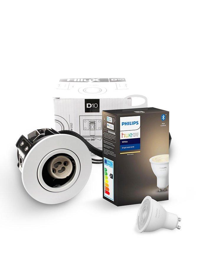 Image of   Philips Hue White + HiluX D10 indbyg - BT