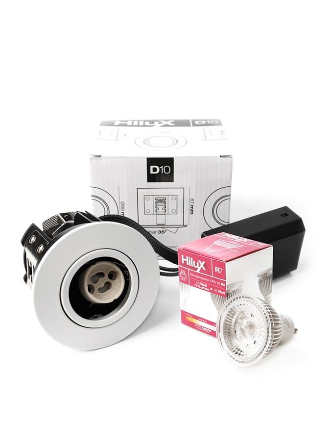 Image of   HiluX D10 Indbygningsspot - Hvid eller Alu- inkl. HiluX LED spot