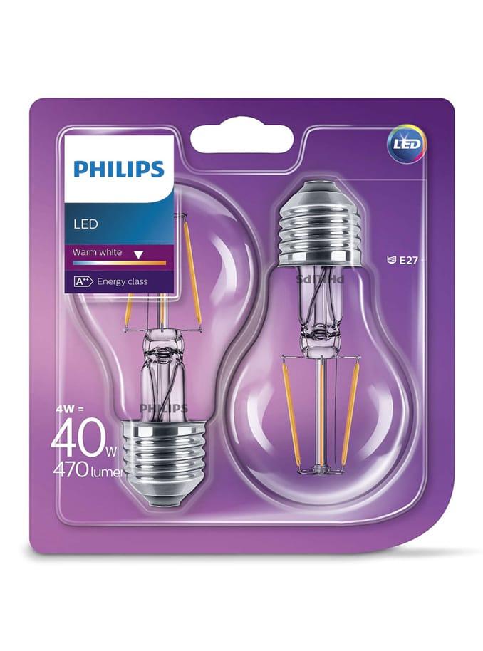 Image of   E27 - 2-pak LED pærer - 4W