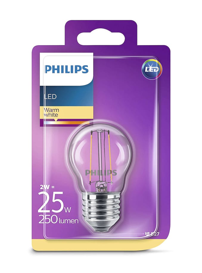 Image of   E27 - Philips LED Kronepære - 2W
