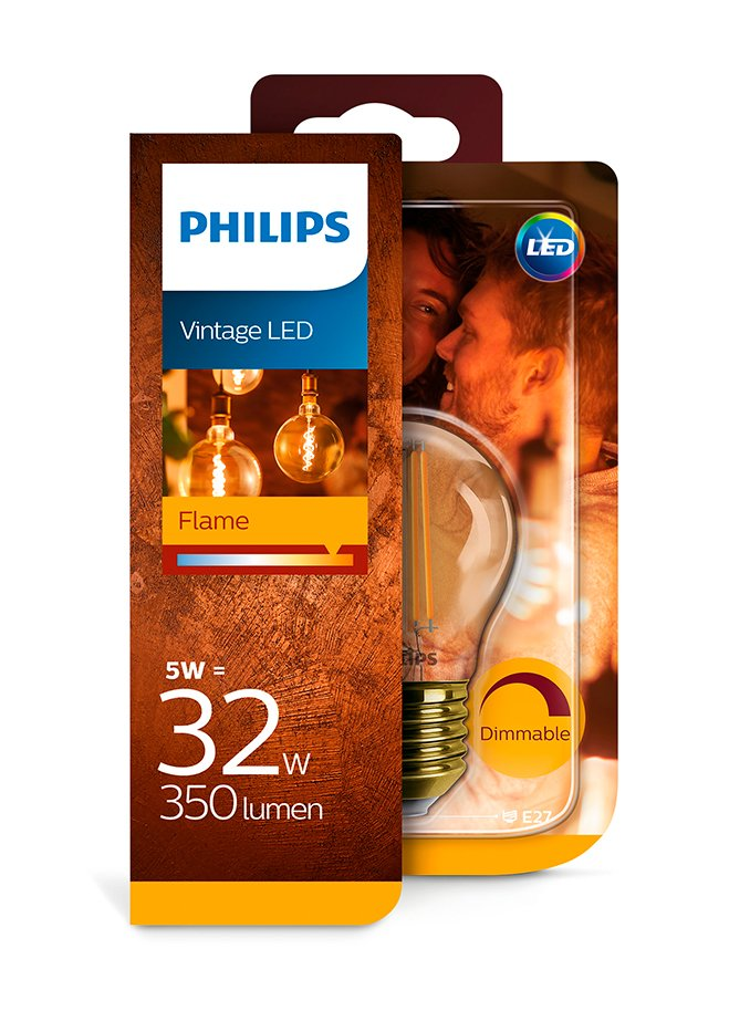 Image of   E27 - Philips LED Krone - 5W (dæmpbar)